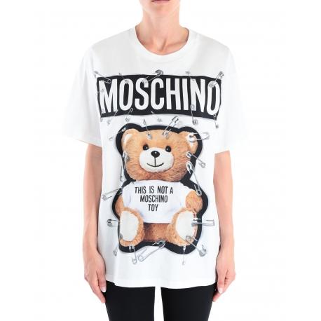 T-shirt teddy épingles over size-moschino-femme-0704. 5540-www.algorithmelaloggia.com