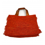 Sac_rafia_franges_côtés_orange_Onja_IBELIV_femme_boutique_shop_online_strasbourg_france_ecofriendly