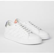 Sneakers_blanche_perforée_logo_cuir_basso_W1S BAS48 FTRI-01_paul smith_femme_shop_online_boutique_strasbourg_france