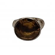 Bague_argent_épaisse_quartz_jaune_bierquartz_Gina_Rosamaria_femme_bijoux_shop_vente_online_boutique_strasbourg_france