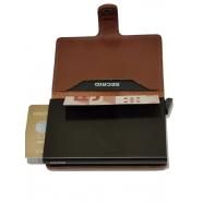 Miniwallet perforé cognac-secrid-porte cartes-mpf-boutique-strasbourg-france-online-accéssoire