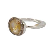 Bague_Begum_cadre_quartz_golden_rutilé_cerclé_diamants_cognac_rosa maria_femme_ring_strasbourg_boutique_france_online