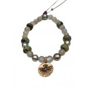 Bracelet Spirit Glade bronze Labradorite perle tahiti turquoise