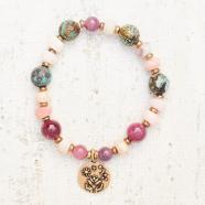 Bracelet_Life_Raspberry_charm_bronze_ruby_turquoise_pink opal_SS2101_catherine michiels_strasbourg_france_boutique_bijoux