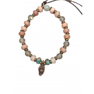 Bracelet_Pêche_Mana_bronze_jade_peach_labradorite_turquoise_SS2102_catherine michiels_strasbourg_france_boutique_bijoux