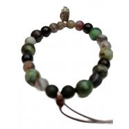 Bracelet Mudra Hand bronze agate noire turquoise onyx labra