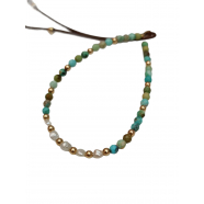 Bracelet Minima mini sweetwater pearls turquoise perle d'or