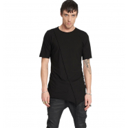 T-shirt_manches_courtes_noir_asymétrique_M2761_Masnada_homme_vêtement_mode_boutique_strasbourg_france