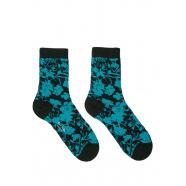 Chaussettes_floral_vert_turquoise_W1A 086D GF648 38_Paul Smith_femme_accessoire_mode_online_boutique_strasbourg_france