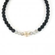 Bracelet fin croix malte or