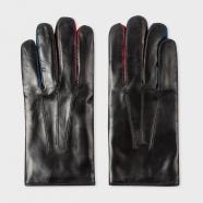 Gants cuir entre doigt couleur