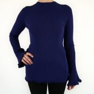 Pull dos nu liens manches longues