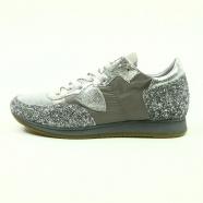 Baskets Tropez toile grise glitter argent