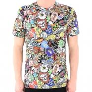 T-shirt multiples dessins manches courtes