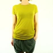 T-shirt soie jersey  manches courtes dans 2 coloris
