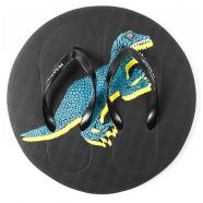 Tongs frisbee dinosaures