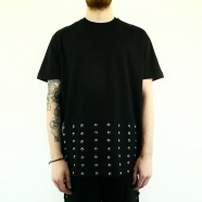 T-shirt oversize rivets bas