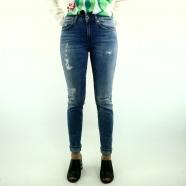 Jeans skinny délavé surpiqué Monroe