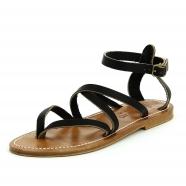 Sandales pul noir cuir semelle naturel Epicure