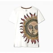 T-shirt soleil blanc manches courtes