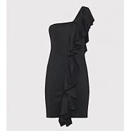 Robe asymétrique épaule volants-femme-dondup-women-E.shop-boutique-strasbourg-www.algorithmelaloggia.com