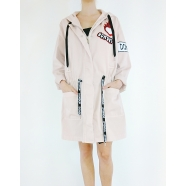 dondup-femme-women-trench-Parka toile applications perles sequins-boutique-e.shop-www.algorithmelaloggia.com