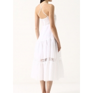 Robe longue fines bretelles dentelles- ermanno ermanno scervino-robe-femme-42 T AB27-www.algorithmelaloggia.com