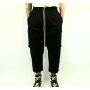 Pantalon court poches plaquées